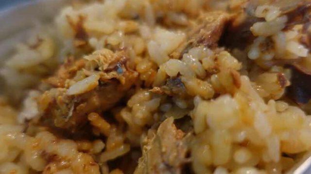 鯖缶(味噌味)炊き込みご飯