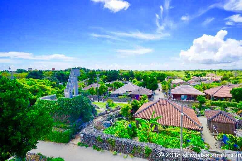 竹富島 あかやま展望台 から なごみの塔