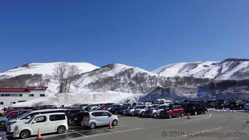 月山スキー場駐車場