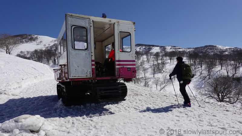 月山スキー場 スキーキャリーサービス