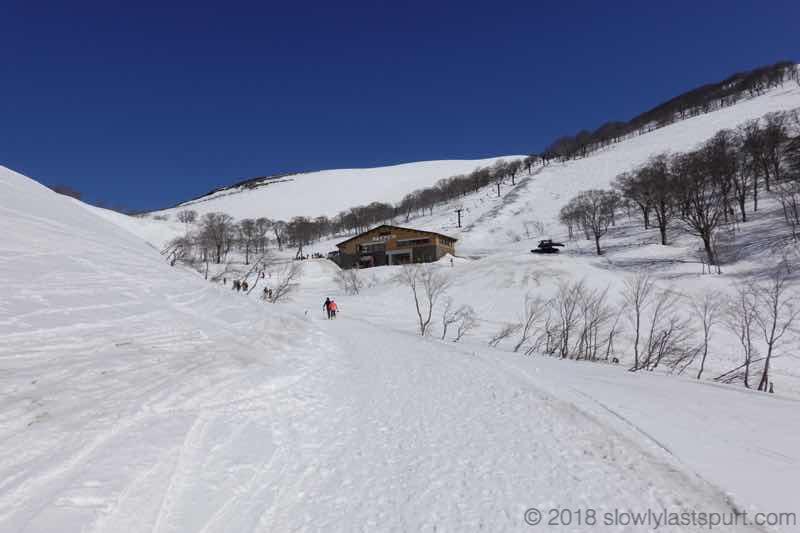 月山スキー場 リフト下駅