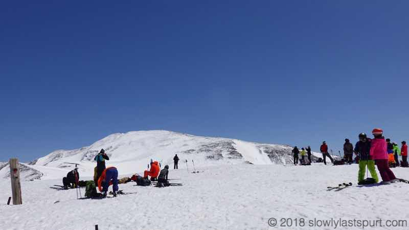 月山スキー場 姥ヶ岳山頂 月山方面